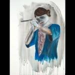 Sans titre - 2009 - 77 x 56 cm - encre et aquarelle sur papier Lana