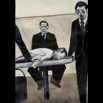 Sans titre - 2012 - 77 x 56 cm - encre et aquarelle sur papier Lana