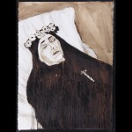 Sans titre - 2014 - encre et brou de noix- 100 x 70 cm